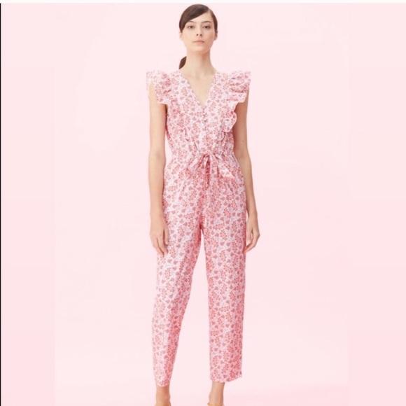Rebecca Taylor Pants - Rebecca Taylor La Vie Wave Paisley Cotton Jumpsuit